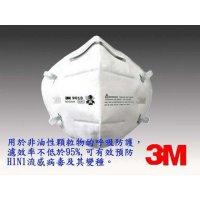 3M N95 對摺式防塵口罩 (50個/盒) 9010