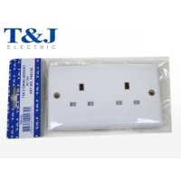 T&J 13A 二位孤面三線插座  P8613D