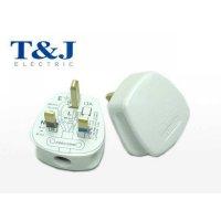 T&J 13A 三線插頭 (白) B7913 (20個/盒)
