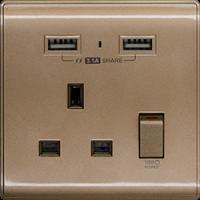 M2K AP105APC3-C 3.1A 單位 單蘇 2 USB 插座 (色彩系列 ) 銅啡色 電制 制面 電掣 掣面 插蘇