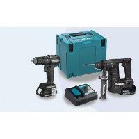 Makita 牧田 DLX2345J / DLX2345BJ 充電式工具套裝 (衝撃電鑽+電錘)