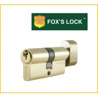 FOX'S 鎖膽(單膽) F-D-60MM-PB-S 歐式葫蘆型鎖膽