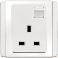 施耐德電氣  Schneider Electric NEO E3015R WW 13A 單位連保護門有掣插座-凝白色插座