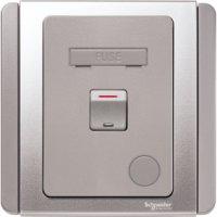 施耐德電氣  Schneider Electric NEO E3031DFSG EBGS 13A 雙極開關保險菲士蘇連LED指示燈-銀灰色