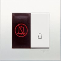 施耐德電氣 Vivace, KB31BD WE,門鐘按手掣連「請勿打擾」發光顯示圖像